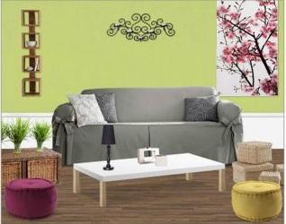 le blog d 39 alizarine d co simulation d co salon. Black Bedroom Furniture Sets. Home Design Ideas