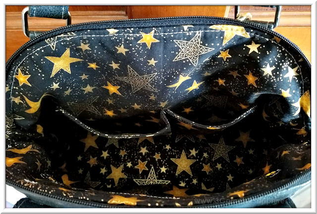 Custom Star Wars-Inspired Handbag Interior Pockets | 3 Garnets & 2 Sapphires