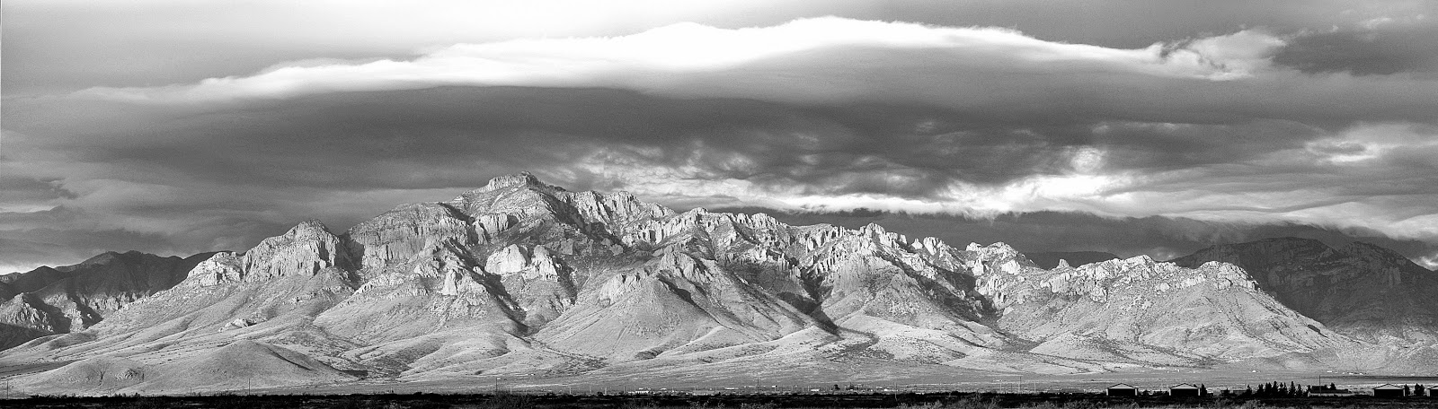 black and white view of Portal Peak