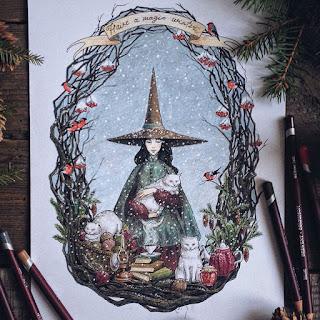 روسية تبدع برسم القصص الخيالية