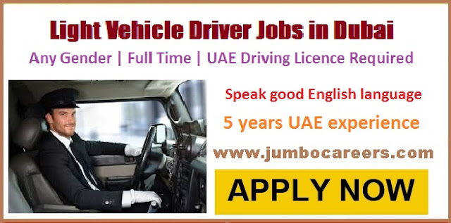 Light Vehicle Driver Jobs Dubai
