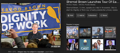 Why is Sherrod Brown giving us the yellow bird?