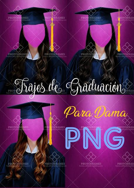 Plantilla de trajes de graduación para mujer
