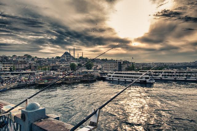 Tramonto al Ponte di Galata-Istanbul
