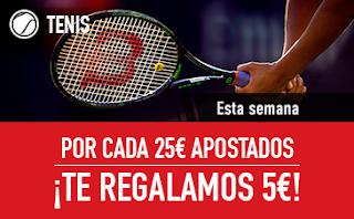 sportium apuesta 25 tenis y 5 euros gratis 12-18 febrero