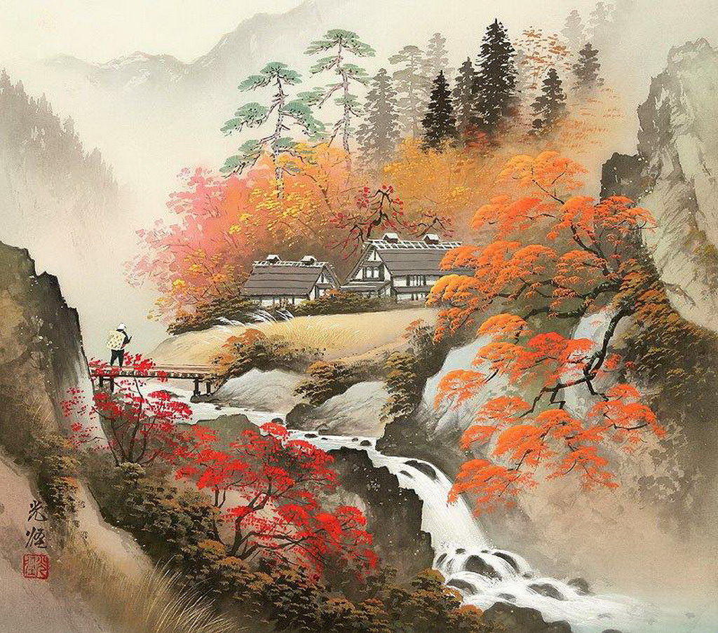 Японские пейзажи картинки