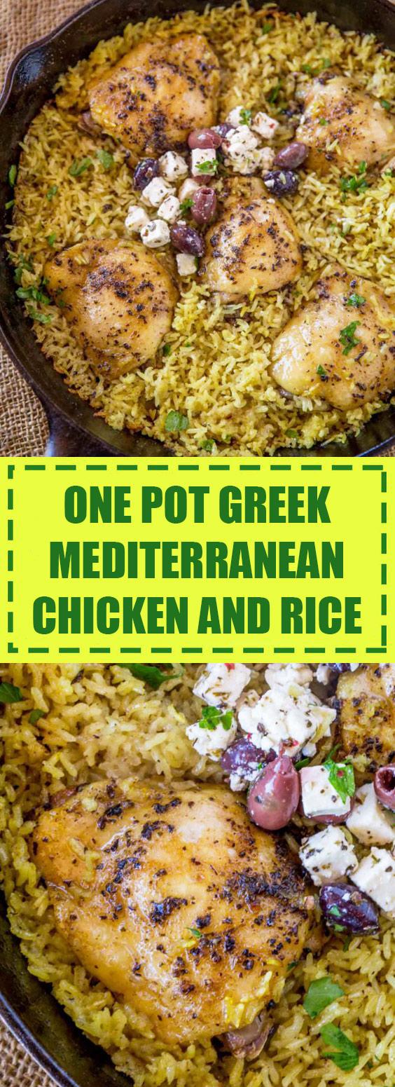 Greek Mediterranean Chicken and Rice
