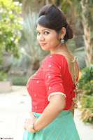 Lucky Shree Looks super cute in Bright Red Green Anarkali Dress ~  Exclusive 020.JPG
