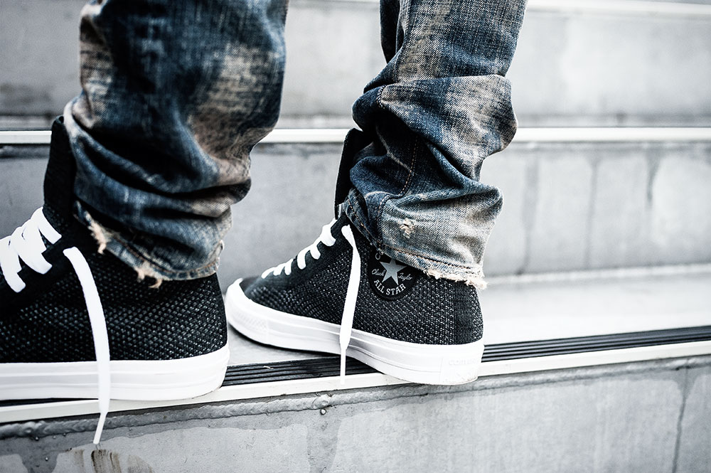 Converse Chuck Taylor All Star X Nike Flyknit Sneakers / Prps P43P03E Barracuda 'Ripedo' Jeans by Tom Cunningham