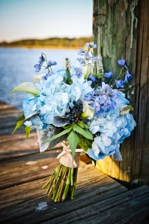 Blue Is a Happy Color for Wedding Favors, Themes, and Flowers