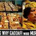 This is why Gaddafi was murdered