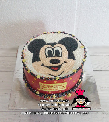 Kue Tart Mickey Mouse Buttercream