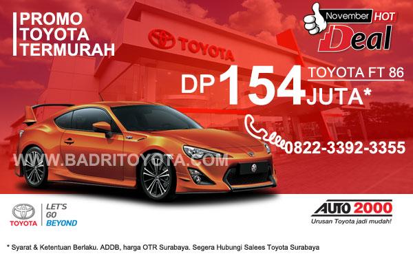 Paket Keren Toyota 86 DP 154 Juta, Promo Toyota Surabaya