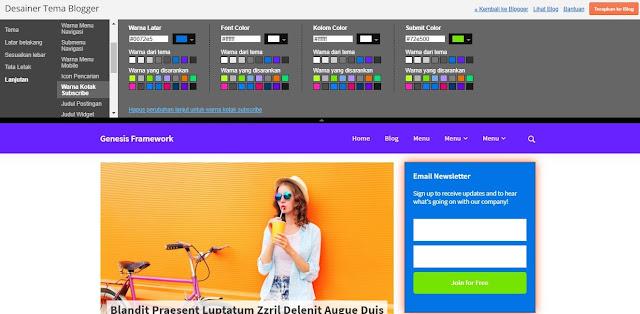 Generate Pramework Blogger Template, Simple dan Clean Design
