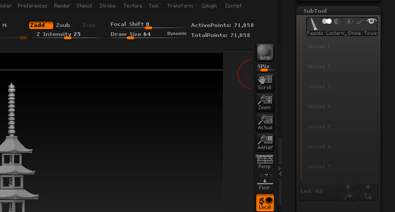 Import OBJ and Splitting it to it own Subtool: ZBrush