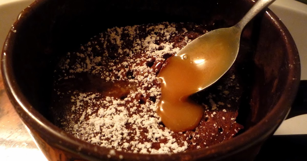 Mug Cake Chocolat Coeur Caramel Maison