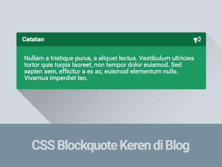Membuat Blockquote