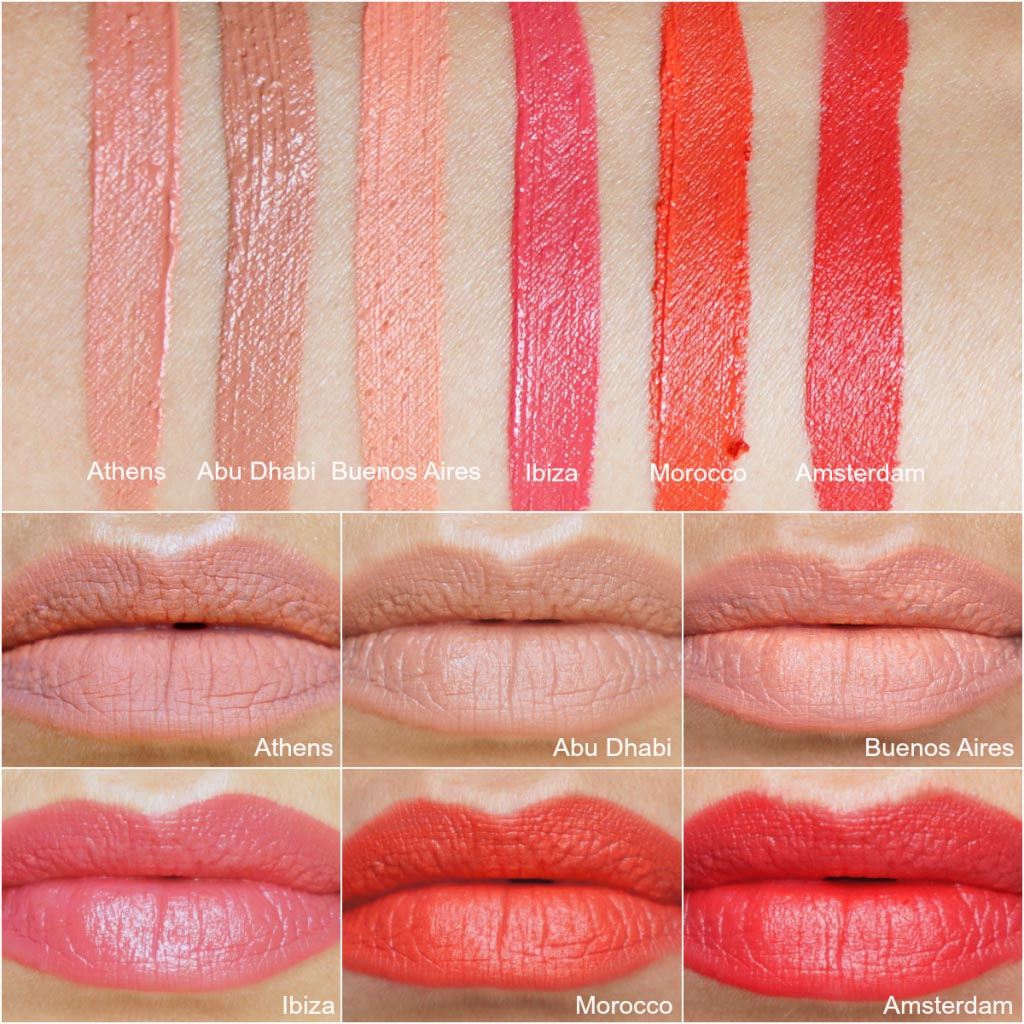 NYX Soft Matte Lip Cream complete Swatches