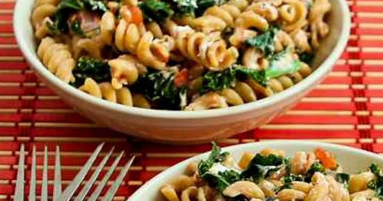 Kalyn's Kitchen®: Vegetarian Whole Wheat Pasta with Fried ...