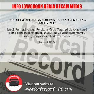 Rekruitmen Tenaga Non PNS RSUD Kota Malang Tahun 2017 | medicalrecord-id.com