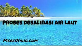 proses desalinasi air laut, reverse osmosis, pre tretment dan pakan air,