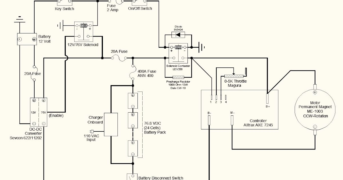 Electric Motorcycle Conversion: Wiring Schematic: Two