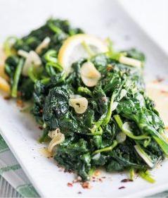 Simply Amazing Lemon Garlic Spinach