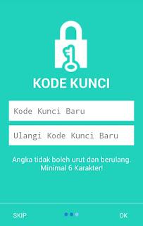gambar kode kunci saat log in