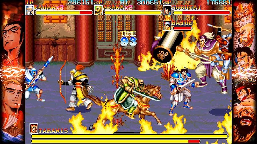 capcom beat em up games warriors of fate