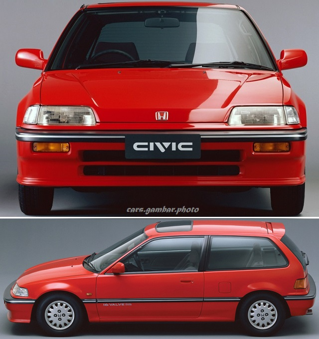 Honda Civic 4th Generation 3-door Hatchback EF 25X 1987-1989 Red Front