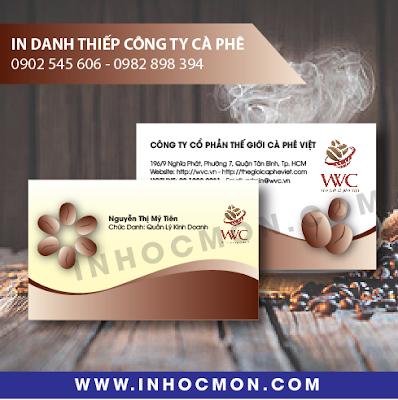Danh thiếp công ty Cà Phê Việt