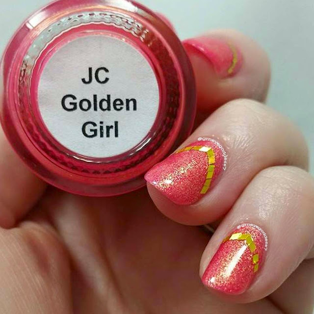 JC Fashion Nails Golden Girl