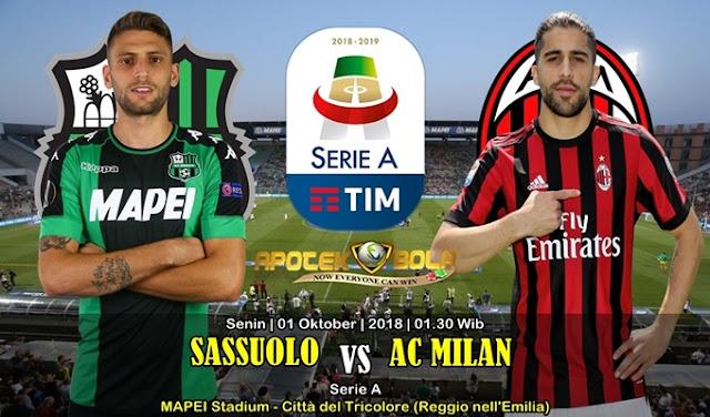 Prediksi Sassuolo vs AC Milan 01 Oktober 2018
