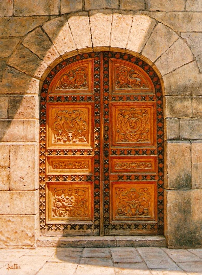 Jes s fern ndez pintor puerta antigua for Puertas correderas antiguas