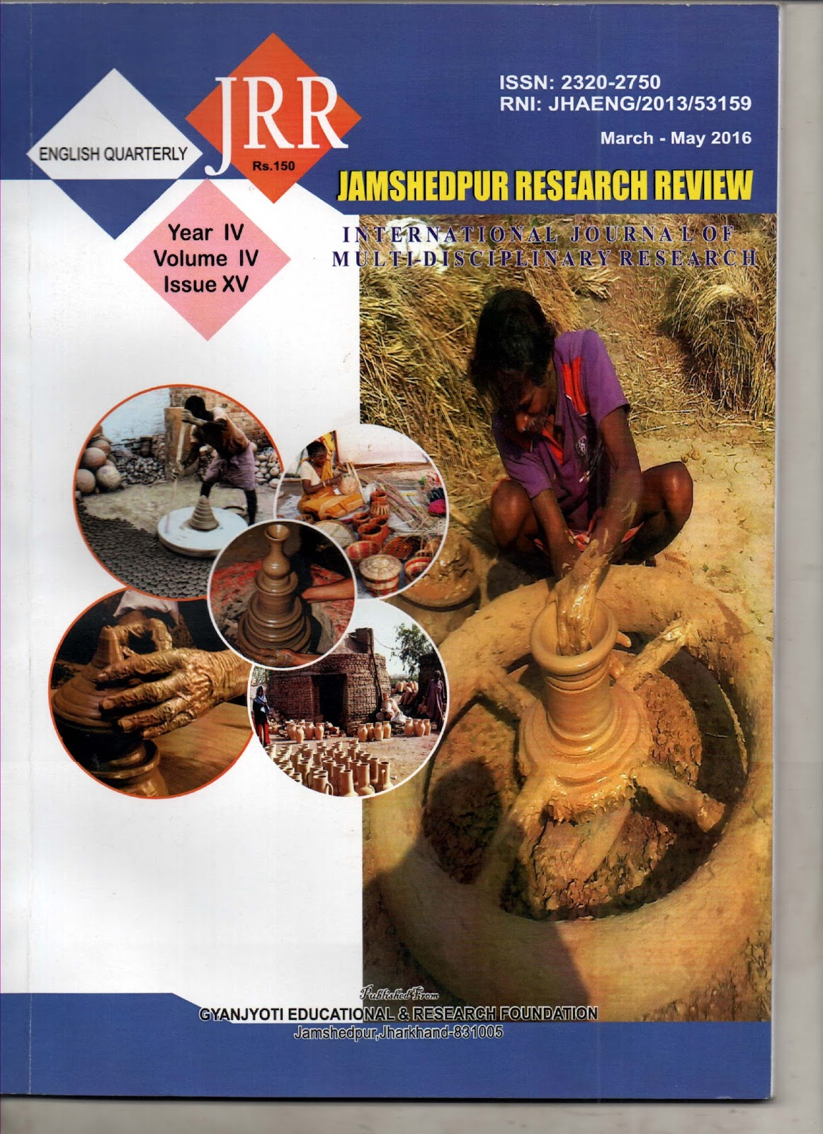JAMSHEDPUR RESEARCH REVIEW (ISSN 2320-2750) UGC APPROVED ...