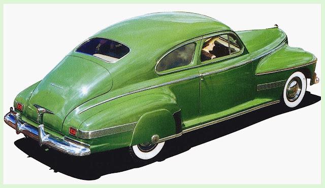 a 1941 Oldsmobile color illustration