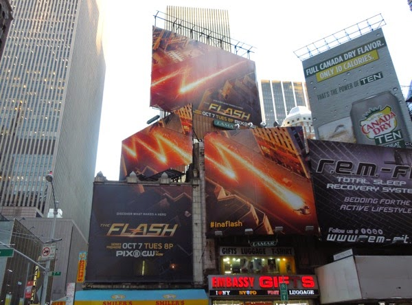 The Flash season 1 billboards NYC