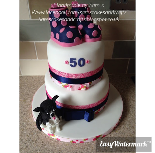 Dog and wellies 50th cake!