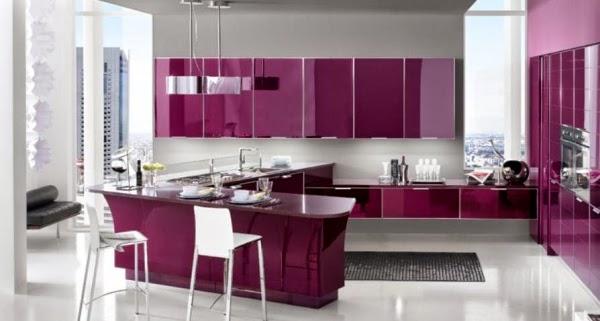 Cocinas modernas en color p rpura y lila colores en casa for Cocinas modernas moradas