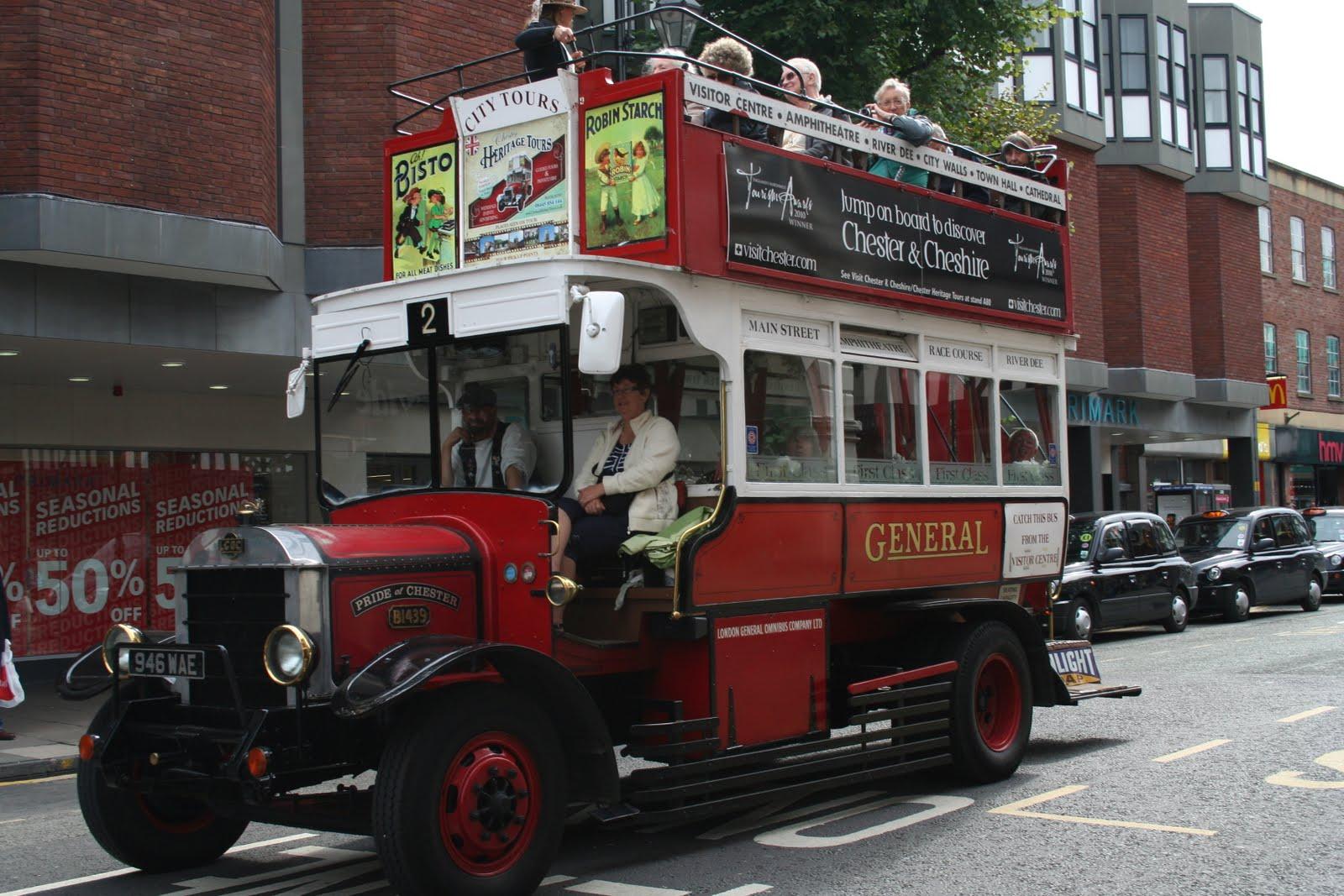 Chester open top bus