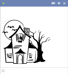 Haunted House Facebook Sticker
