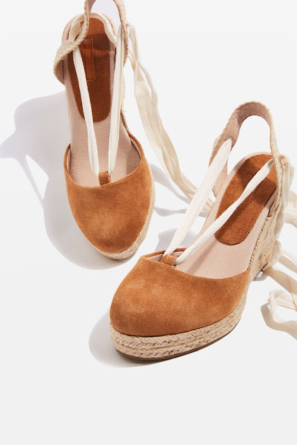 TOPSHOP ESPADRILLE WEDGE HEEL SANDALS