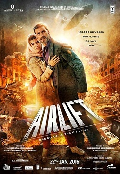 Airlift 2016 Hindi DVDRip HEVC Mobile 100mbB free download bollywood movie airlift 2016 brrip 480p compressed in small size in hd hevc mobile format 100mb from https://world4ufree.ws