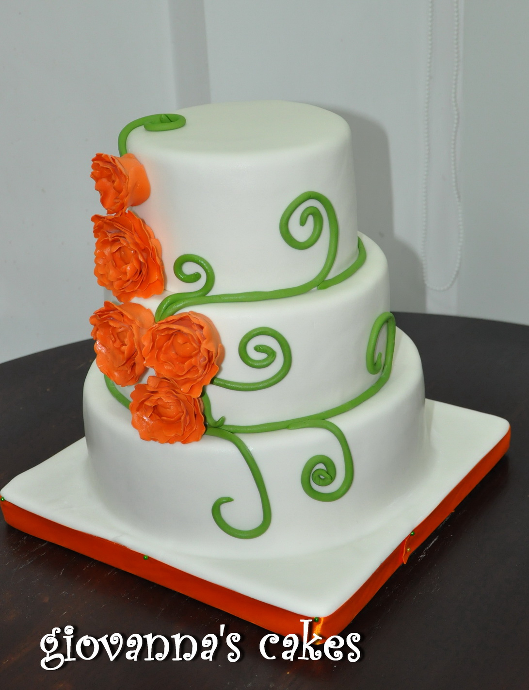 pictures of orange and green wedding cakes giovanna s cakes orange amp green wedding cake 18416