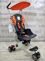 Kereta Bayi LightWeight CocoLatte CL08 iSport - Polkadot Orange