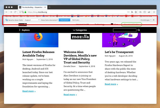 Despite The Great Compeion Firefox Browser Begins To Use Google Translate In Sites You Visit