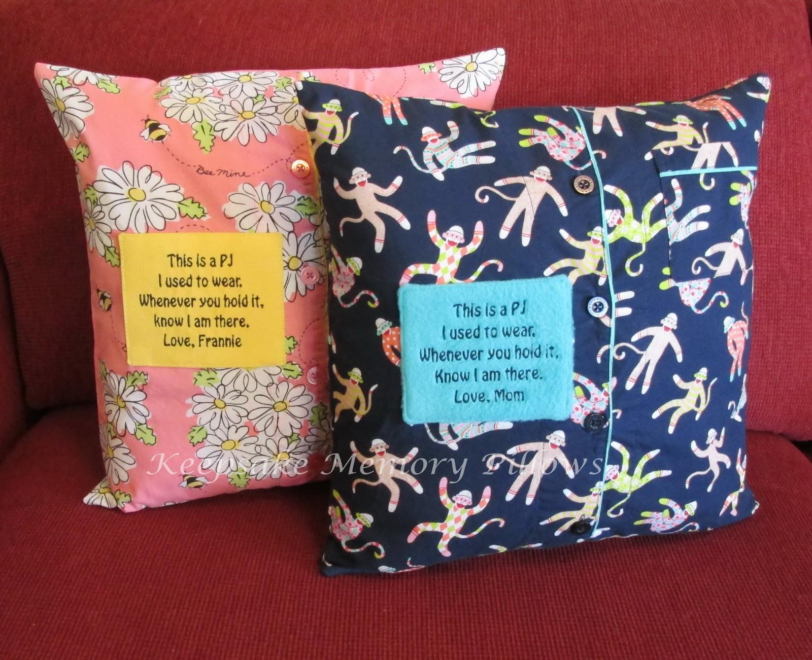 keepsake memory pillows