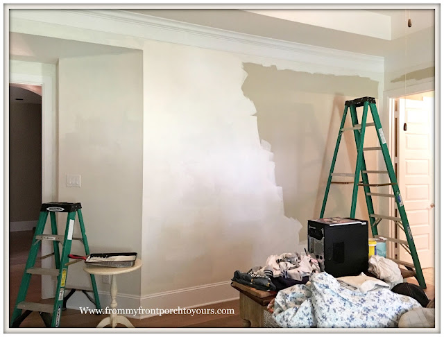master bedroom makeover-new paint-from my front porch to yours