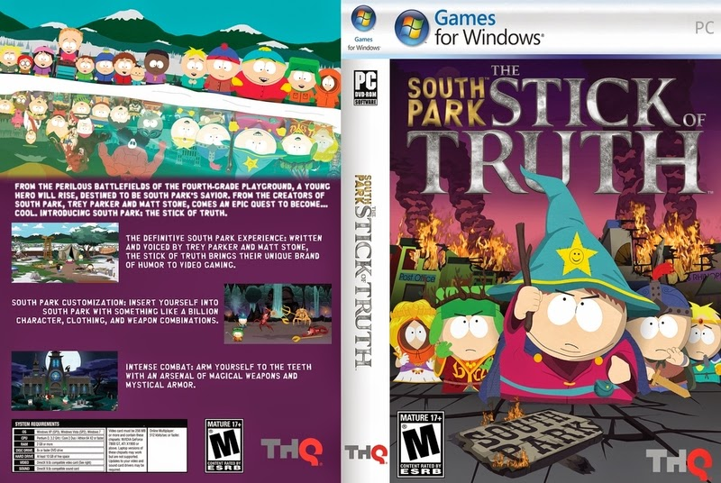 South Park The Stick Of Truth PC DVD Capa