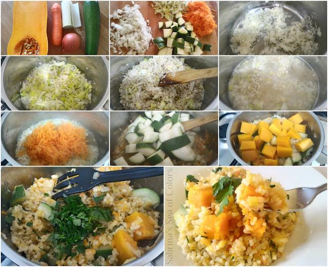 Arroz integral con verduras paso a paso